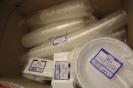 Plastové nádobí, kelímky, příbory, talíře