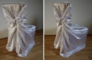 Svatební potahy na židle